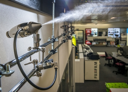 Condair JetSpray humidifies at Fujifilm